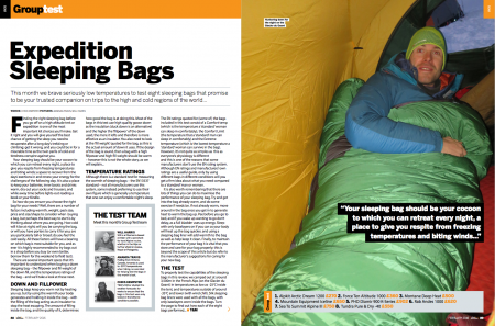 Group Test Expedition Sleeping Bags