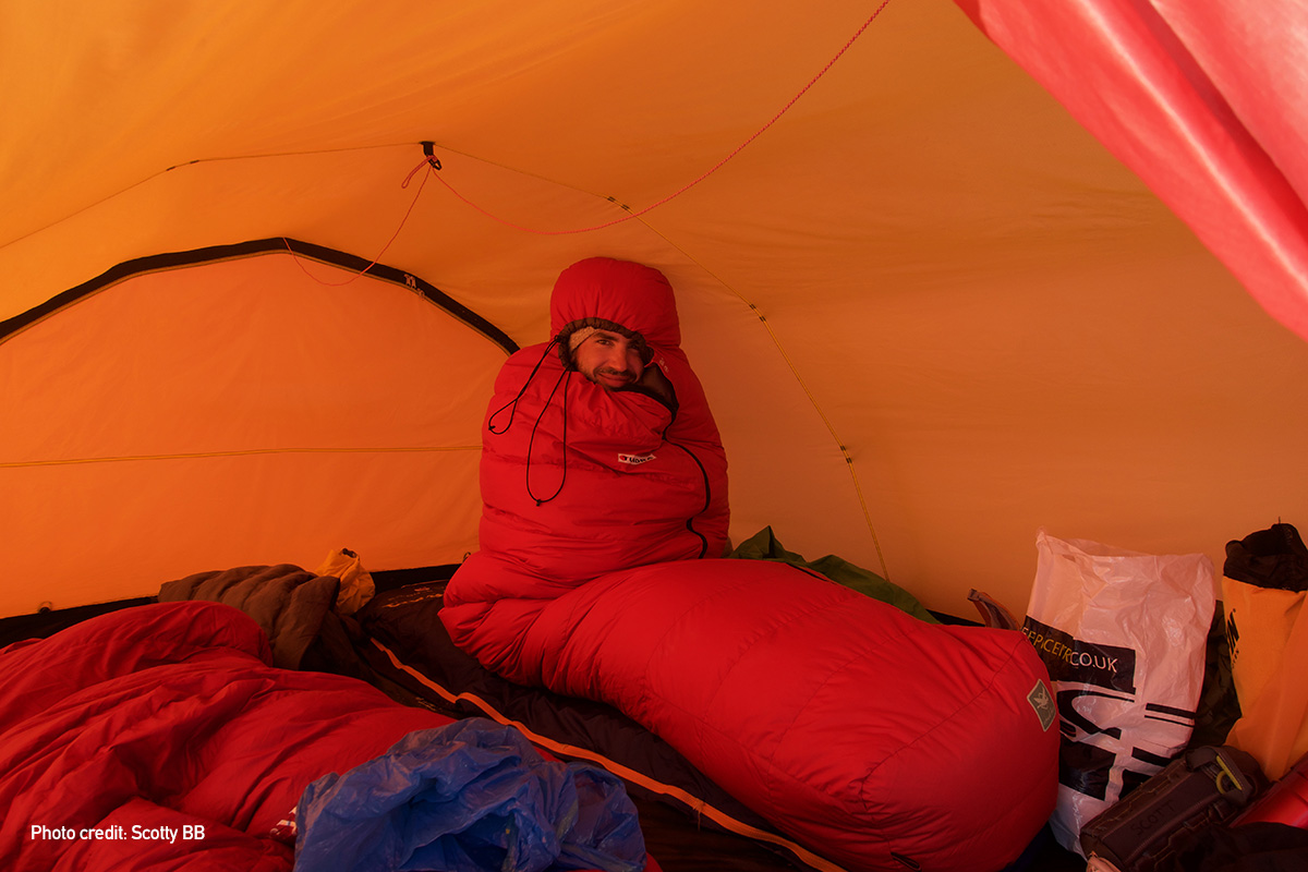 Using a Tundra Pure & Dry Sleeping Bag on the Hardangervidda